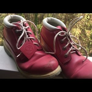 Pink Timberland Hiking Boots